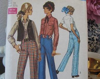 Simplicity Pattern 8288, Dated 1969, Misses Size 10, Uncut