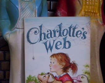 "Vintage ""Charlotte's Web"" by E.B. White Children's Softcover Book - Classic - Fiction - Story"
