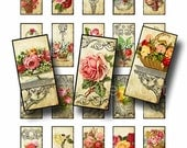 Old Roses and Scrollwork  Digital Collage Sheet Instant Download for Paper Crafts Gift Tag Original Whimsical Altered Art by GalleryCat CS55