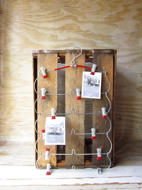 Up Cycled Memory Board-Hanger Christmas Card Tree