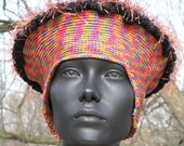 Earthy Comfortable Crochet Hat with a Fuzzy Top to It...