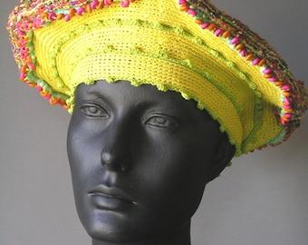 Lemony Springtime Crochet Hat...