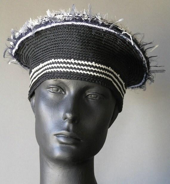 Black & White Crochet Hat...