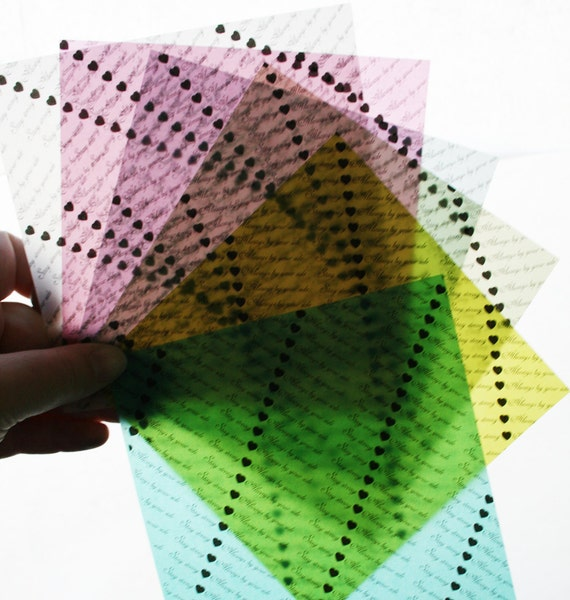 Custom Message Origami Paper - Translucent Origami Paper - Medium Sized 5 Inch Squares - perfect anniversary gift