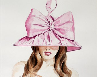 Couture Derby Hat by Arturo Rios. Enhanced Matte Print. Large Format