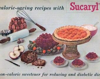 Vintage Advertising Cookbook SUCARYL Artifical Sweetener 1950s Recipe Book