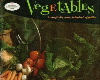 Vintage Good Housekeeping Cookbook BOOK OF VEGETABLES 1950s Recipe Book