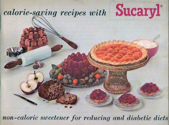 Vintage Advertising Cookbook SUCARYL Artifical Sweetener 1950s Recipe Book