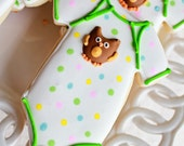 A dozen Owl Onesie Sugar Cookies