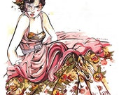Dior Couture fashion illustration