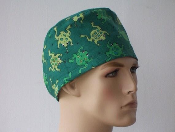 Mens Scrub Hat Ribbit Ribbit Frog Cap Traditional By