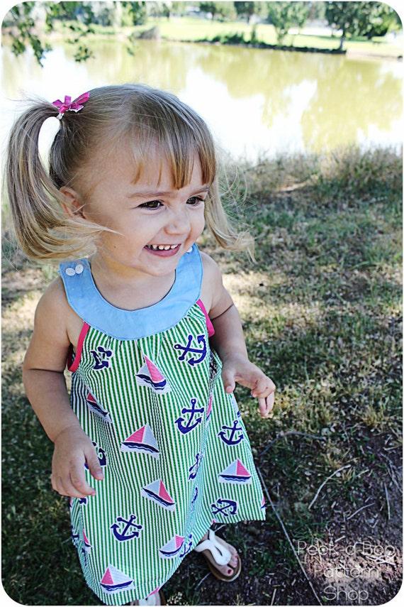 Madison Dress: Girls Dress Pattern, Baby & Toddler Dress Pattern, Sun Dress Pattern