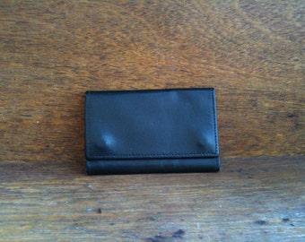 Vintage English Black Key Case Wallet Holder circa 1960's / English Shop