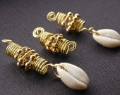 Dreadlocks Jewelry Set with Cowrie Shells