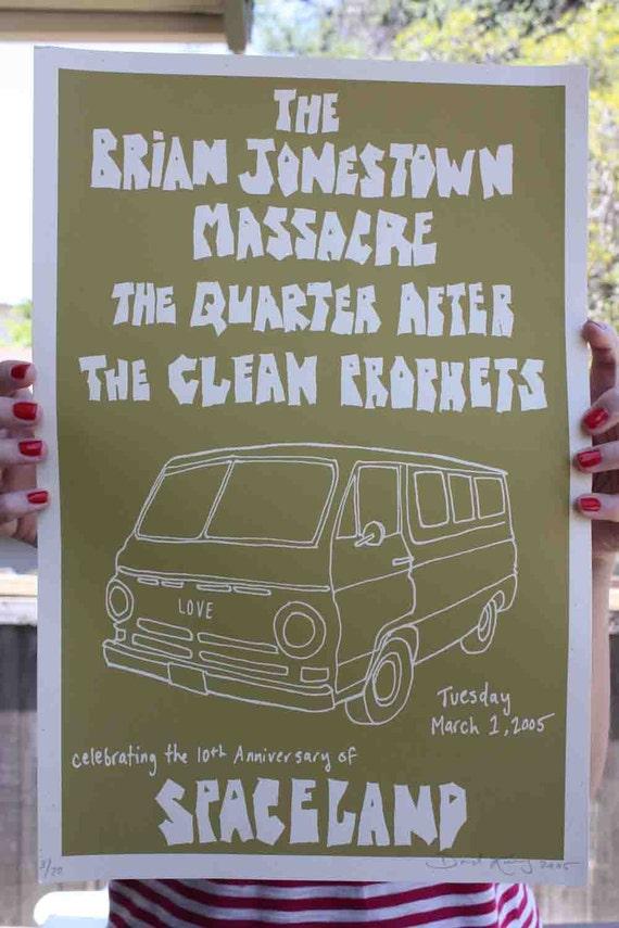 Poster Brian Jonestown Massacre Silk Screen Print 12 x 18