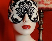 Black Cream Damask