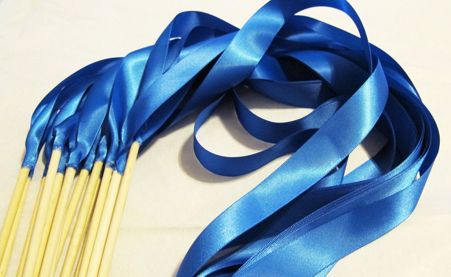 50 magical wedding ribbon wands in your colors shown in royal for Ribbon wands