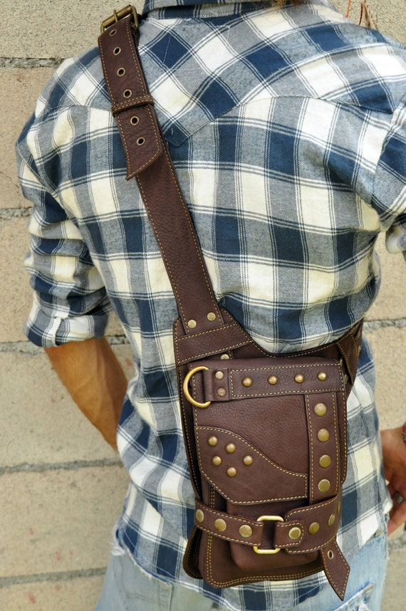 Small Leather Shoulder Bag- KASTE