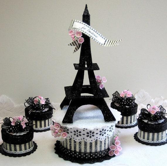 tour eiffel de gâteau boîte à souvenirs