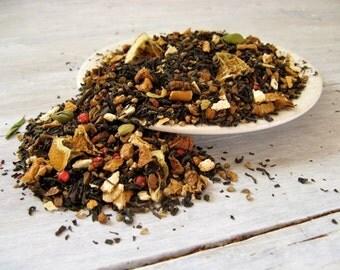 Solstice Spice Black Tea • 4 oz. Tin • Loose Leaf Blend with Cinnamon, Orange, Cloves, Apple & Cardamom