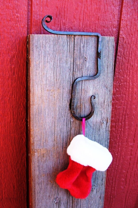 Fireplace mantle christmas stocking hanger