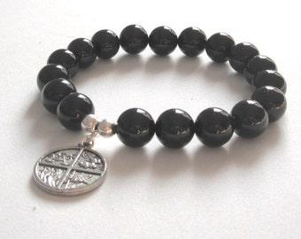 Four Elements Charm Meaningful Inspirational Jewelry Gift for Men, Women Graduation, Retirement, Recovery Zen Strength Chakra Mala Bracelet