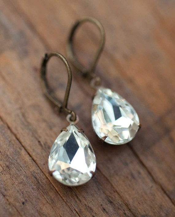 Bridesmaid Earrings Vintage Jewelry Wedding Jewelry Bridal Earrings Drop Earrings Dangle Earrings Gift Idea  - Darcy's Gift