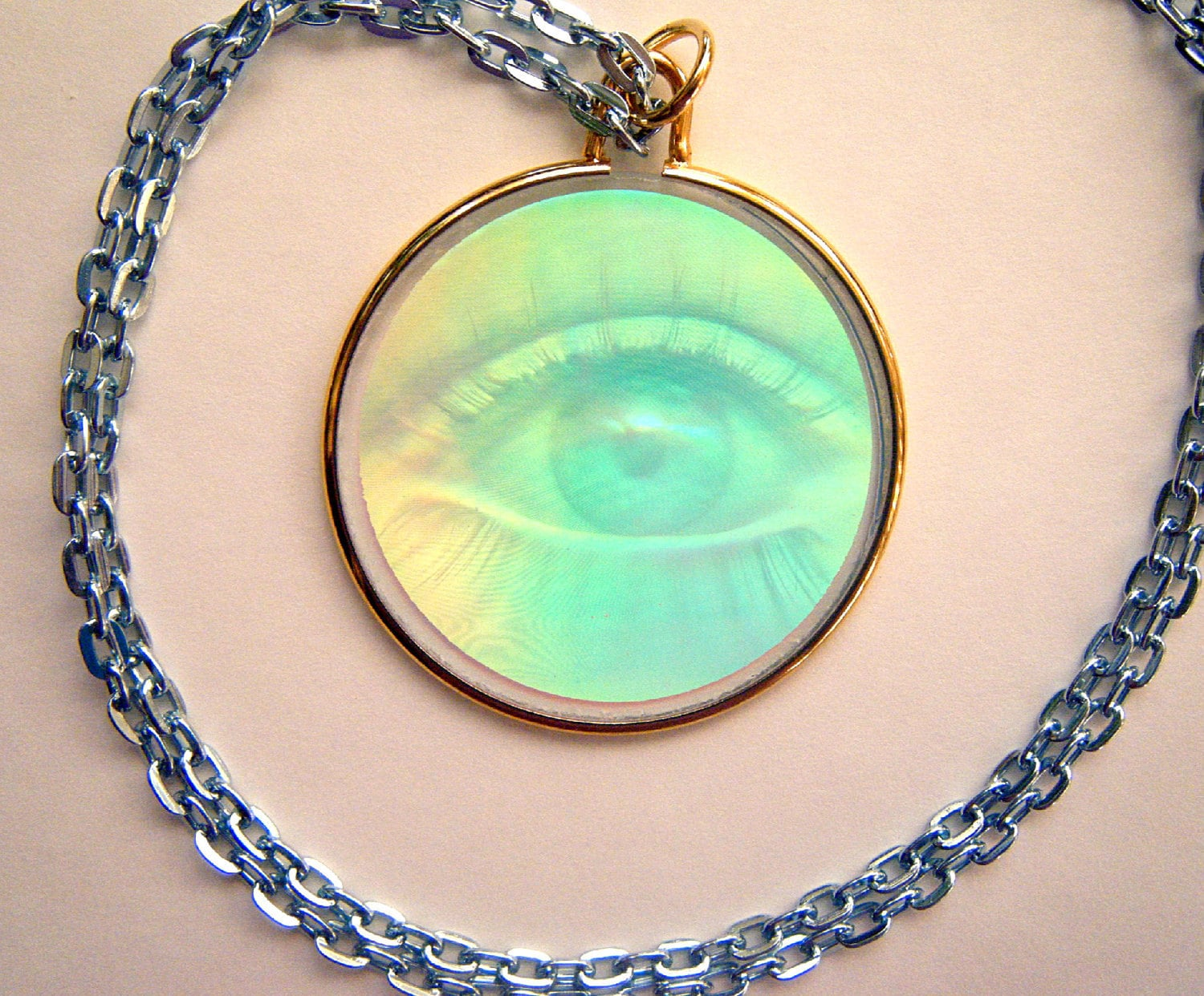 hologram necklace hologram pendant the third eye