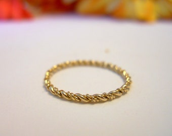 Stacking  Small Twist, 14k Gold Filled