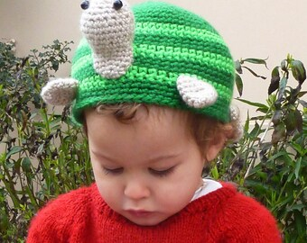 Turtle Crochet pattern Hat or Toilet Paper Cover PDF- Bathroom decor & Beanie - Instant Dowload