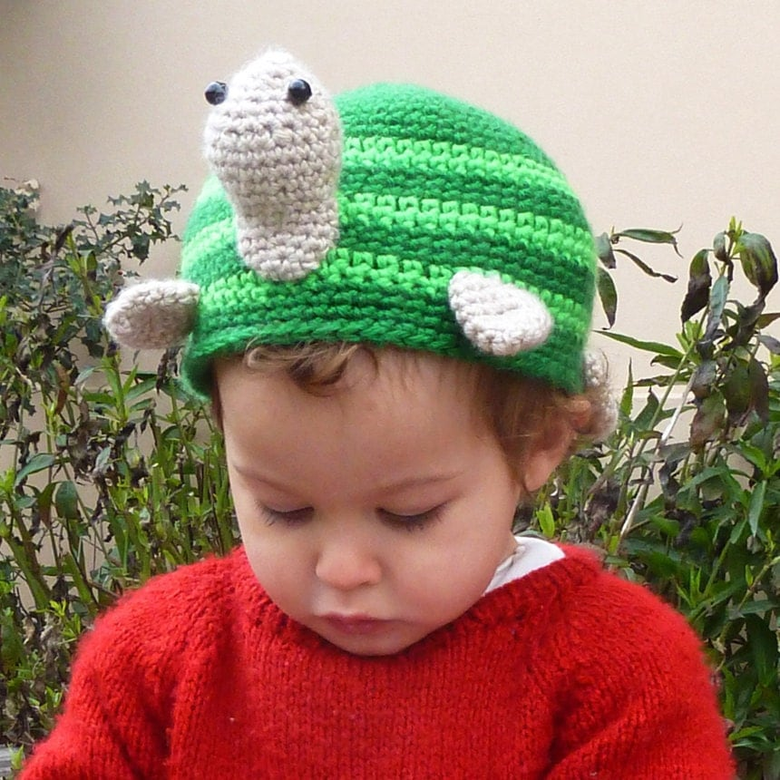 Crochet Pattern For A Turtle Hat : Turtle Crochet pattern Hat or Toilet Paper Cover PDF Bathroom