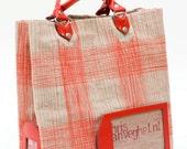 handmade heavy canvas shopper fire red