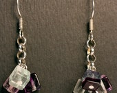 Fluorite and Sterling Earrings - CLEANSING Aura - Free US shipping