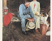 Norman Rockwell, Breaking Home Ties, Post Magazine Cover, Usa, America's Painter, Family Of 50's 60's 70's