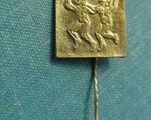 Gemini Astrological Zodiac Sign - astrological signs - Cute Rare Badge - USSR - Vintage Soviet Russian Pin