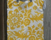 X-Large Hanging Wet Bag for Diaper Pail Zipper Top Yellow Twill Print