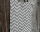 X-Large Hanging Wet Bag for Diaper Pail Zipper Top Gray Chevron