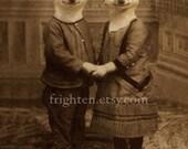 Meerkat Print, Meerkat Couple, Collage Art, Holding Hands, Anthropomorphic Art, Animal Art, frighten