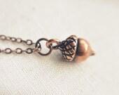petite acorn necklace.