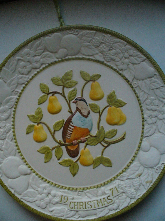 Partridge In A Pear Tree First in a Series of Limited Edition Plates