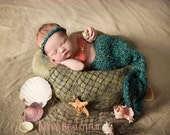 Knitting Pattern - Mermaid Tail Blanket or Cocoon - Newborn Baby Photography Prop - Baby Knitting Pattern - Mermaid Blanket Pattern