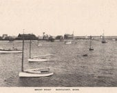 Brant Point, Nantucket post card. Gardiner black & white
