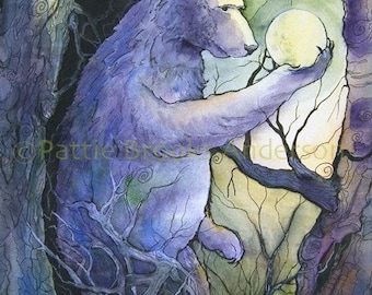 "Bear - ""Holding  the Moon"", Signed Open Edition"