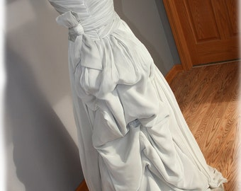 Gray Wedding Dress, Custom Made in your size - Jess Style