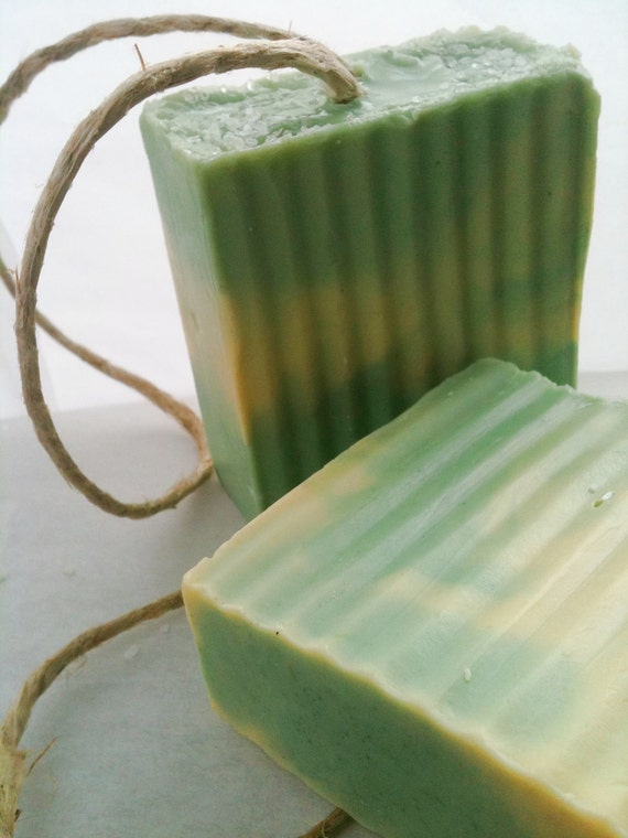 Lime Orange Essential Oil Hemp Soap on a Rope - Lime Kush - Dope on a Rope Soap - Hippie Gifts  - Handmade Soap - Birthday Gifts - Bath