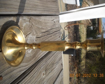 Vintage solid Brass candle holder Mid Century Hollywood glammer eames