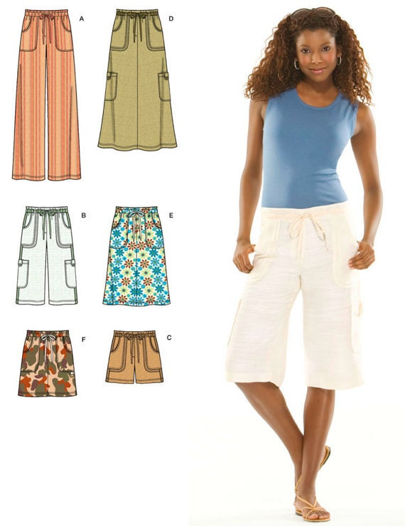Simplicity Pattern 3796 Misses' Skirts, Shorts and Pants Sizes 8-16 NEW