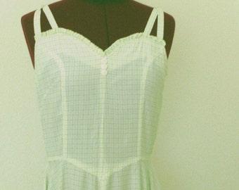 Vintage 1950 Sweetheart Rockabilly Full Skirt  Dress Small Medium
