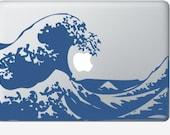Kanagawa Wave laptop DECAL- macbook PC computer- fugi japanese vinyl sticker