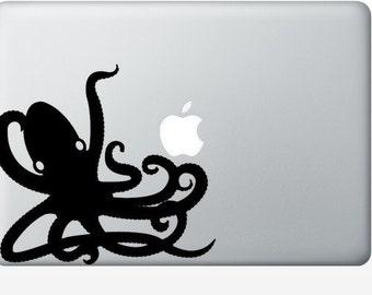 Octopus laptop DECAL- macbook PC computer - ocean water animal vinyl sticker